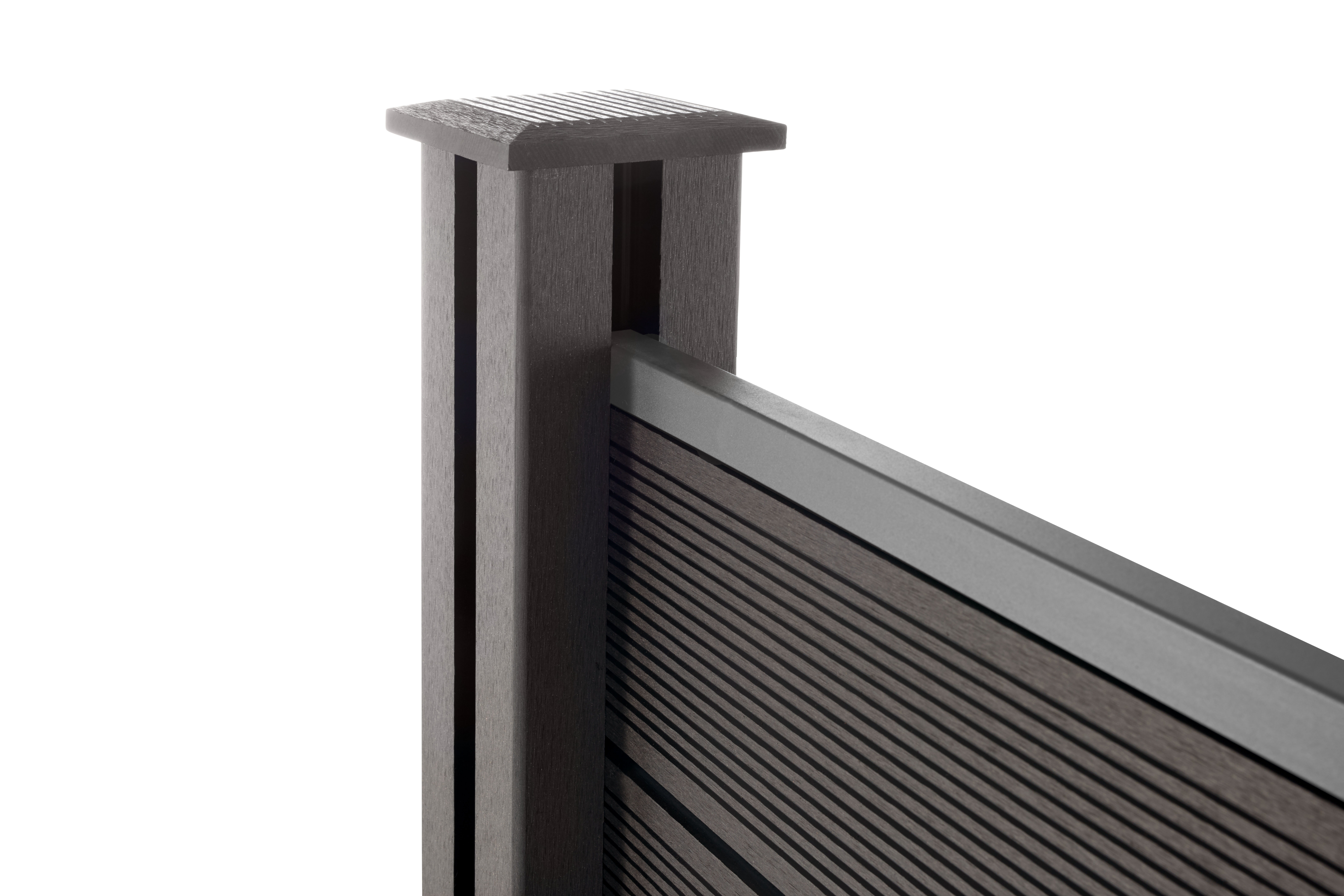 wpc sichtschutzzaun set gartenzaun sichtschutz windschutz l rmschutz 180x180 cm ebay. Black Bedroom Furniture Sets. Home Design Ideas